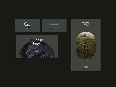 Gunnar Freyr - Analog Layouts design minimal typography branding