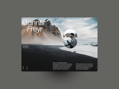 Gunnar Freyr screendesign webdesign clean ux typography interface website ui minimal design