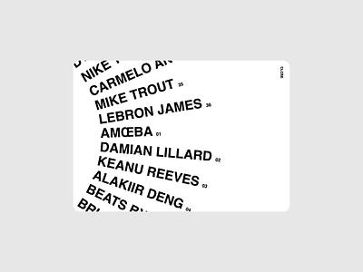 Marcus Erikkson - Index screendesign webdesign ux clean typography interface website ui minimal design