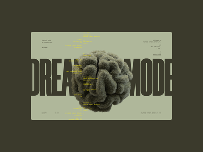 Dreamer Mode typography interface website minimal ui design