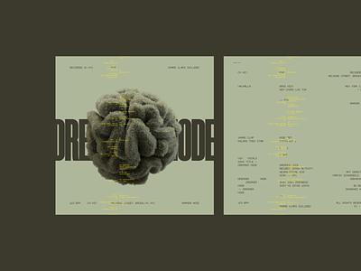 Dreamer Mode albumcoverdesign albumcover typography minimal design