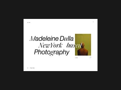 Madeleine Dalla - Webby Awards typography interface website minimal ui design