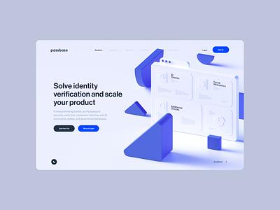 Passbase screendesign webdesign ux clean typography interface website minimal ui design