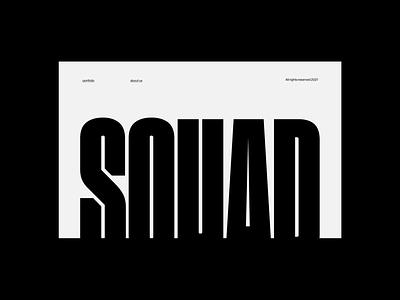 Squad Capital - Homepage webdesign branding logo graphic design ui