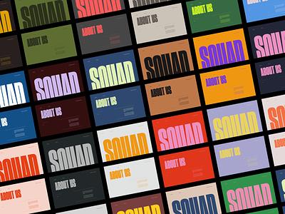 Squad Capital - Color Exploration webdesign branding logo graphic design ui