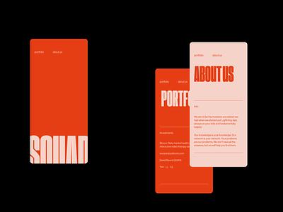 Squad Capital - Color options branding logo graphic design ui