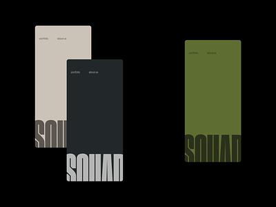 Squad Capitals - Color options branding logo ux interface typography website minimal ui design