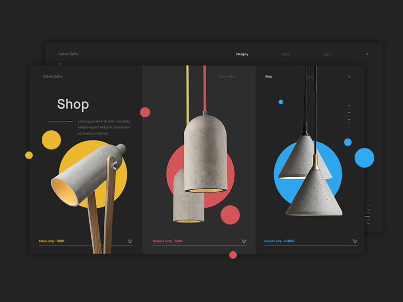 Design Products Shop Page