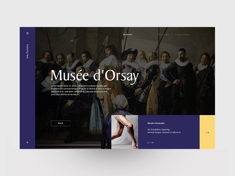 bb388f632 Musée d'Orsay - Navigation Layout by Marvin Schwaibold | Dribbble ...
