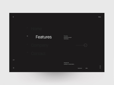 Swipsh Menu Layout layover menu minimal clean website ui interface design
