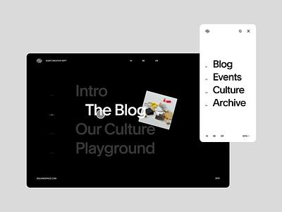 SQSP Creative Department responsive web screendesign webdesign clean typography interface website ux design