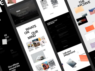 SQSP Creative Dept. interactive screendesign webdesign clean typography interface website ui ux design