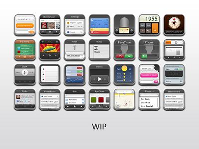 Work in progress - Icons ios winterboard theme skin icons