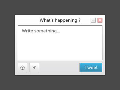 Twitter UI Rebound twitter widget ui
