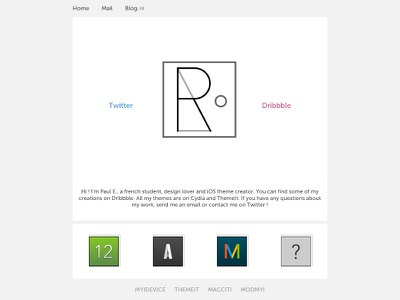 My new website site html themes