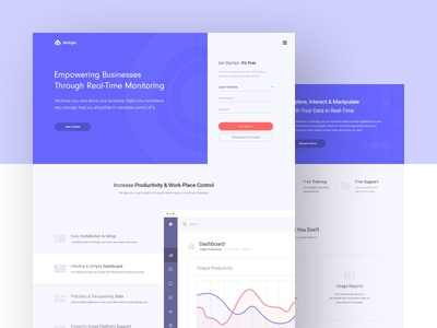 All Sight Landing Page security simplicity web-design purple control landing page clean web