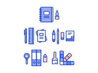 Office & School Supplies Illustrations