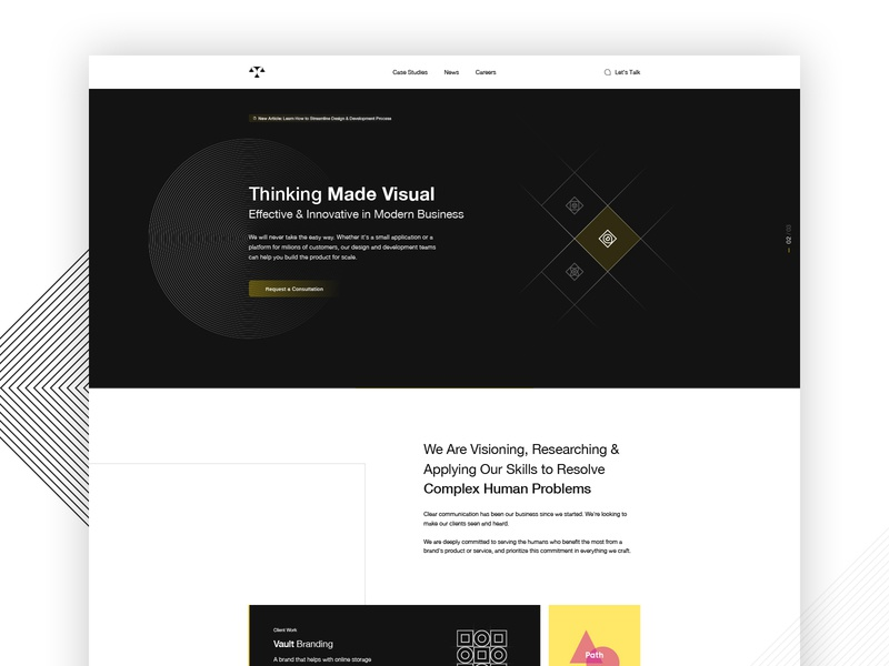 Themis Agency - Home Page Design branding ux ui typography sketch illustrator simplicity simple design web creative grid layout home page agency landing page agency website agency web design agency web design clean