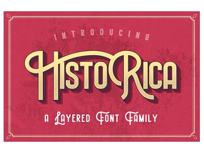 Historica Layered Typeface type design retro vintage font typography layered font font