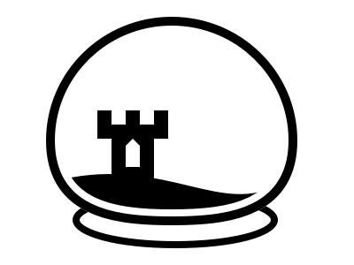 FortSort Snow Globe Logo mono snowglobe logo