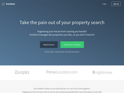 New FortSort.com Design saas product website
