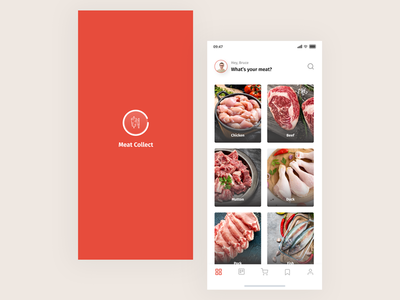 Meat Purchasing App product design shopping app ecommerce app uiux mobile app
