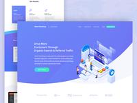 Agency website UI