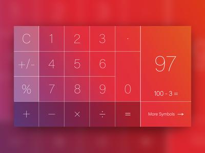 Daily UI: 4:100 - 'Landscape iPhone Calculator Layout'