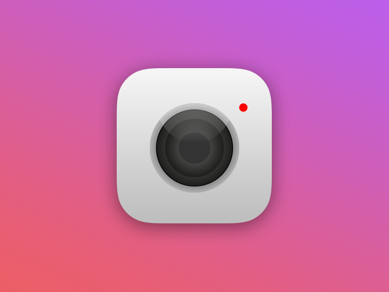 Daily UI: 5:100 - 'Apple Camera App Icon' design user mobile sign up interface daily ui calculator 04 100 iphone landscape apple