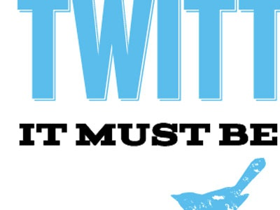 Part of a new card series typography twitter stationary