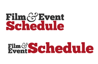 Film & Event Schedule  type typography