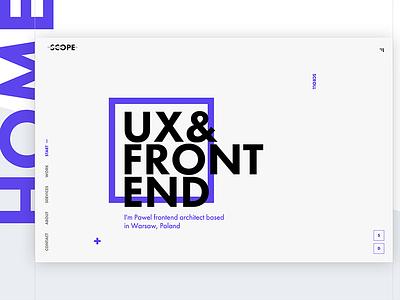 Project Scope - Portfolio front-end portfolio html css web design ui ux