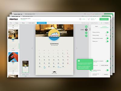 Calendar Creator user interface design web design ui ux app calendar creator
