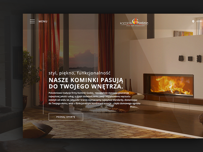 Kominki Godzic wordpress css html ux ui web design
