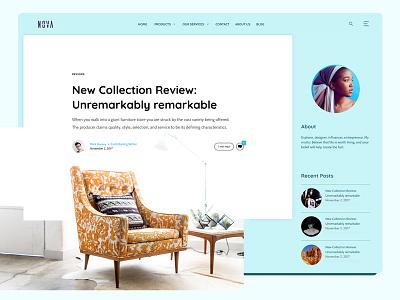 Blog Post Concept user interface ux ui flat design website web design article post blog