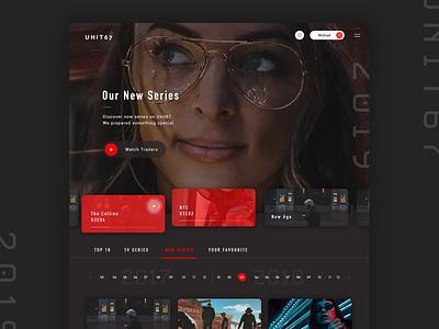 Video Platform UI Design video video app tv series application account html design app css dashboard user interface web website ux ui web design