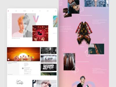 Get to Know BTS. design webdesign uidesign interface uxdesign uxui interaction design web design ux ui