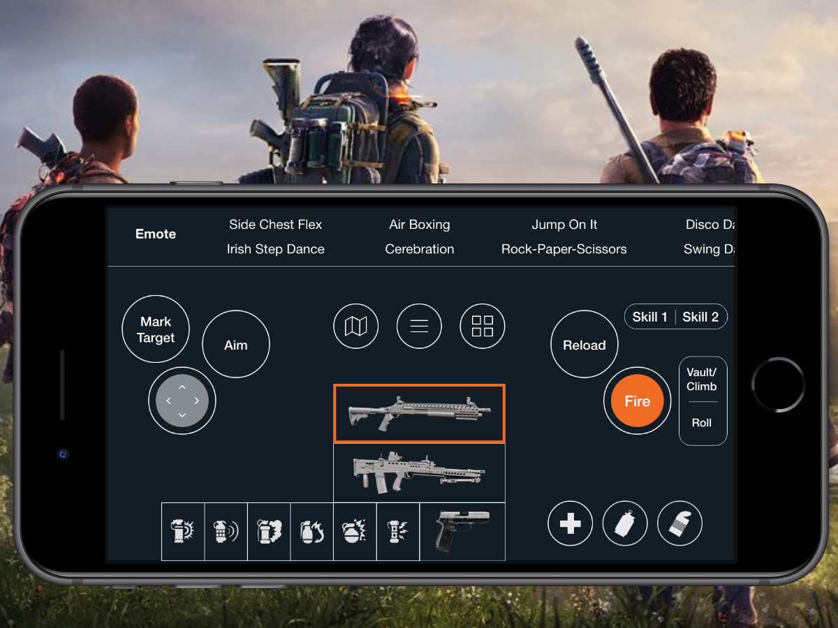 The Division 2_Mobile Controller for PC players game design division 2 division design interaction design ux ui