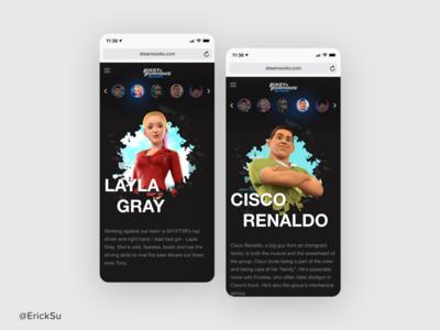Spy Racers behance esartd uidesign uxui webdesign design interaction design web design ux ui