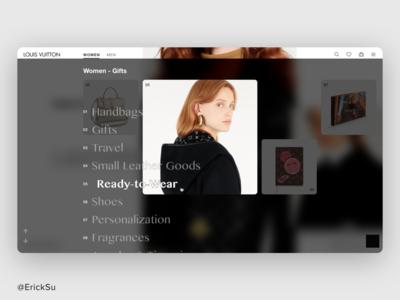 LV web redesign concept. uidesign uxdesign uxui webdesign design interaction design web design ux ui