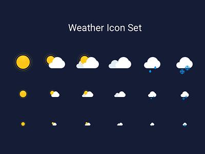 Weather Icon Set forecast snow rain sun icon weather
