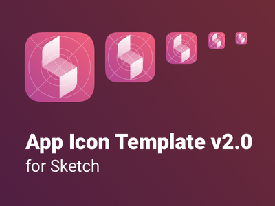 App Icon Template for Sketch v2.0 sketch template icon app