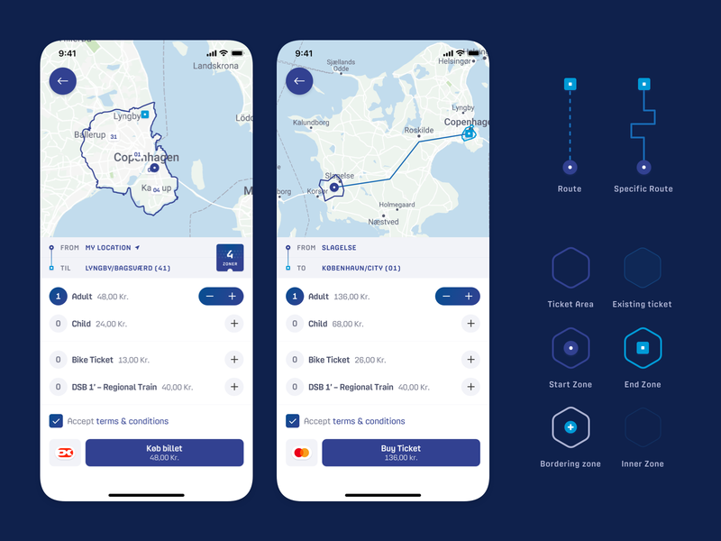DOT – Solving the ticket booking flow markers commute travel buy configure zone train metro bus ticket route map ios mobile app