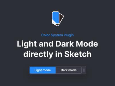 Color System Plugin for Sketch