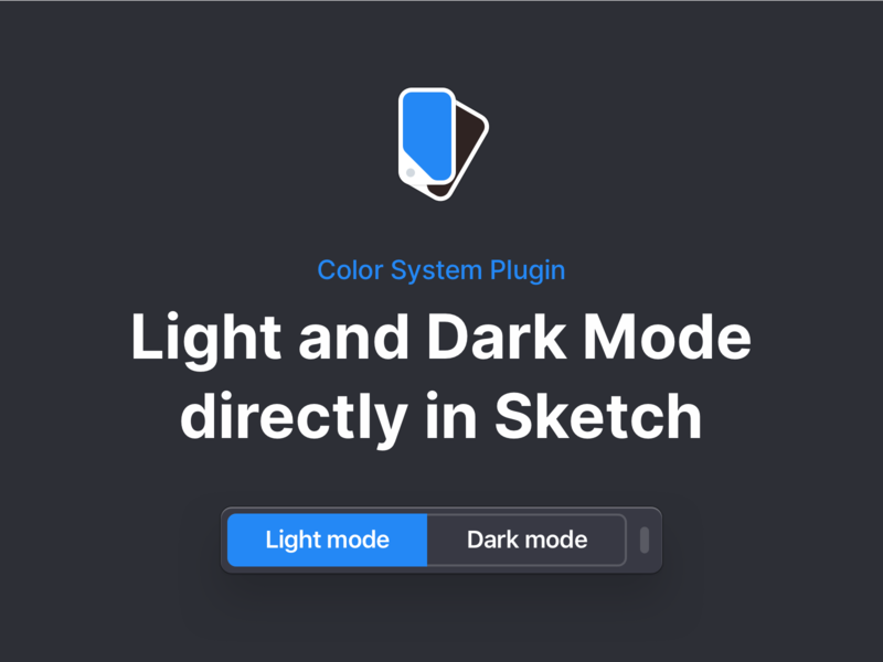 Color System Plugin for Sketch ui plugin sketch lightmode darkmode dark color