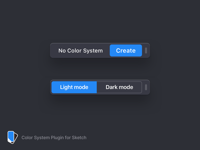 Using the Color System Plugin to design the Color System Plugin mode dark light lightmode darkmode plugin sketch ui macos
