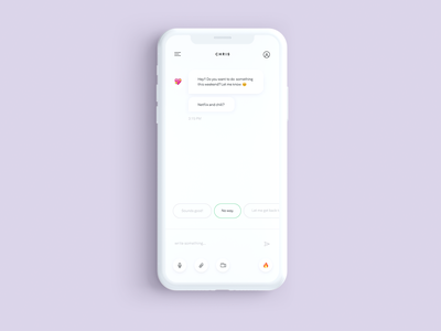 Sorry Chris 💖 clean chat app text messanger chat daily ui day 13 minimal daily ui ui