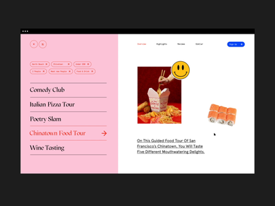 Its been awhile motion ui scroll motion weird typogaphy typo loud y2k 2000s 90s san francisco chinatown illustration design typography 3d editorial website ui daily ui