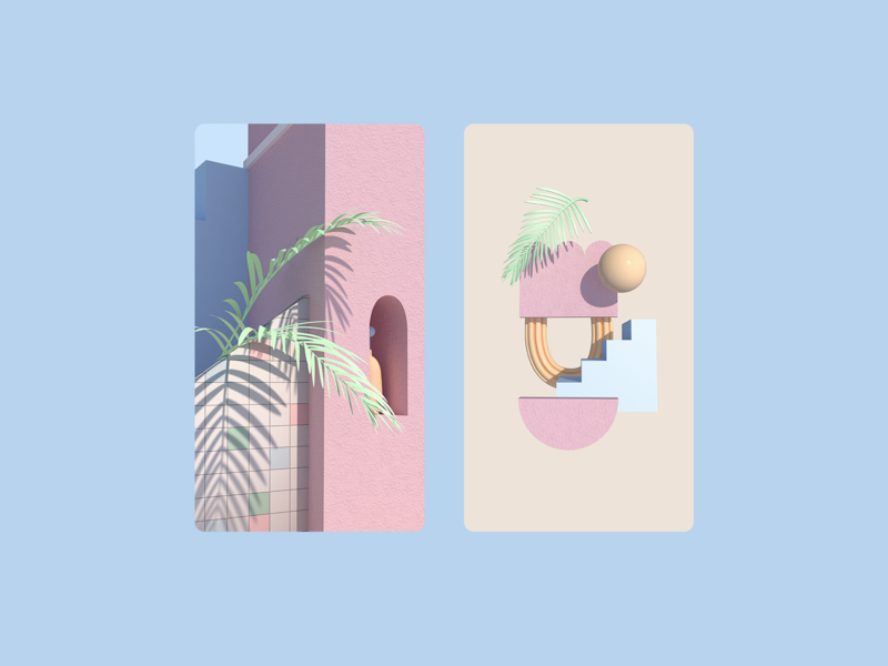 ✨sf inspired bbs ✨ shapes cute c4d cinema4d 3d illustration pastel san francisco sf 3d illustration