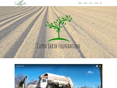 Cuppa Earth custom wordpress website css html wordpress